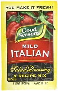Good Seasons Mild Italian Salad Dressing & Recipe Kit (0.7 oz Packets, Pack of 24)