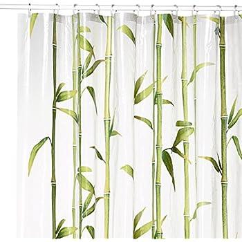Kleine Wolke Bamboo PVC Free 100% Peva Shower Curtain 70.9x78.7in [180x200cm] - Spring Green