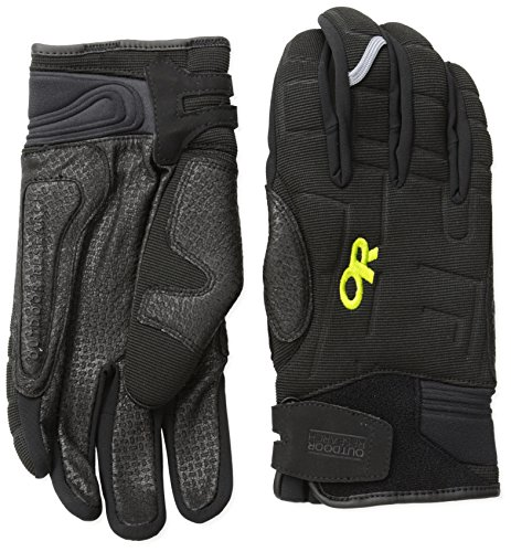 Outdoor Research Alibi II Gloves, Black/Lemongrass, Large