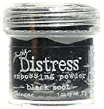 Ranger Tim Holtz Distress Embossing Powders (Black Soot) 2 pcs sku# 1842610MA