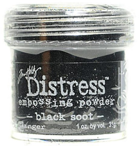 Ranger Tim Holtz Distress Embossing Powders (Black Soot) 2 pcs sku# (Tim Holtz Embossing Powder)
