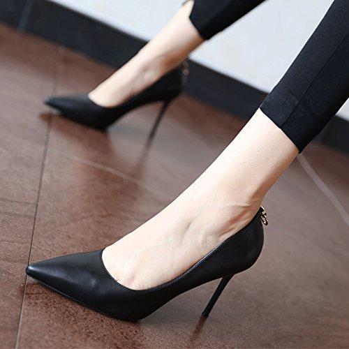 FLYRCX Europäische Mode Persönlichkeit einfach und scharfe scharfe scharfe Schlanke dünne Schuh Damen Schuhe mit hohen Absätzen 560a35