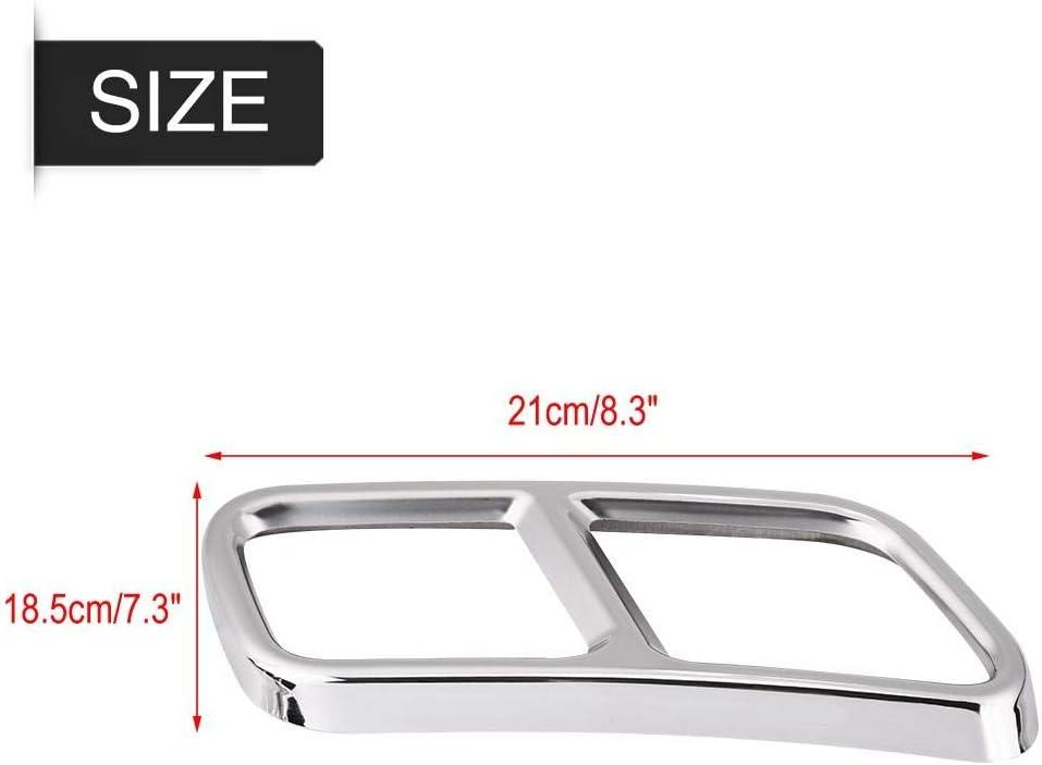 Verkleidungen der hinteren Auspuffrohrabdeckung Kompatibel mit GL X166 13-15 S R Klasse W222 W251 10-17 1 Paar Auspuffrohrabdeckung