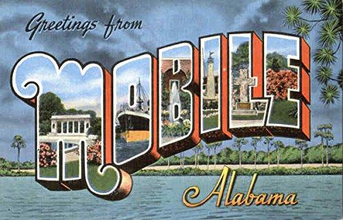 Greetings From Mobile Mobile, Alabama Original Vintage Postcard from CardCow Vintage Postcards