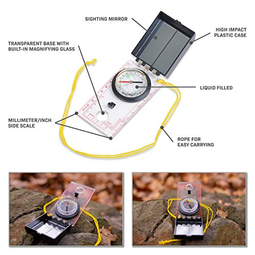 Magnifying Glass Card Multi Tools Pocket Survival Outdoor Camping Travel Kits YL