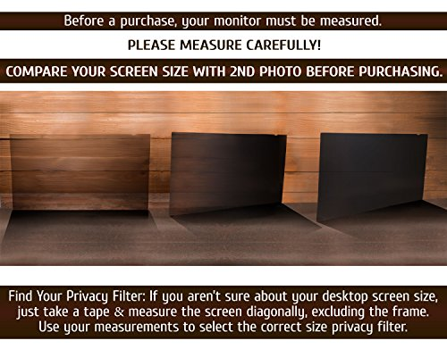 19 Inch - 5:4 Aspect Ratio Computer Privacy Screen Filter for SQUARE Computer Monitor - Anti-Glare - Anti-Scratch Protector Film for Data Confidentiality - PLEASE MEASURE CAREFULLY! by VINTEZ (Image #8)