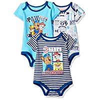 Nickelodeon Baby Boys' Paw Patrol 3 Pack Bodysuit, Grey, 12m