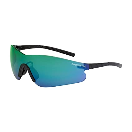 5ebcc1c49e8 Image Unavailable. Image not available for. Color  Crossfire Eyewear 30210  Blade Safety Glasses with Black Frame and Emerald Mirror Lens