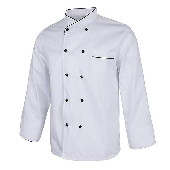 Baoblaze Abrigo de Chef Unisex Uniformes de Cocinero Hotel Manga Larga Restaurante Cafeterías Panaderías Hogares: Amazon.es: Ropa y accesorios