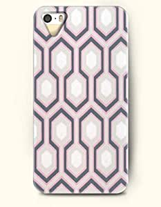 iPhone 5/5S Case, OOFIT Phone Cover Series for Apple iPhone 5 5S Case (DOESN'T FIT iPhone 5C)-- Grey And Pink Hexagon Pattern -- Honeycomb Pattern