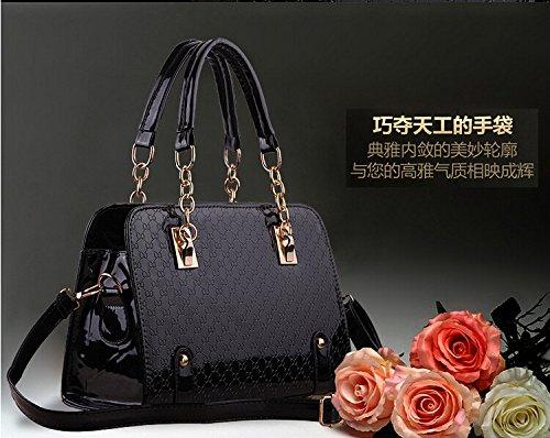 XWAN-Bolso de Hombro única europea y americana para señoras Bolso Bolso,LUZ ROSA black