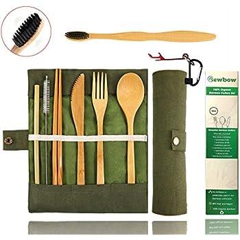 Amazon.com | Totally Bamboo 3-Piece Bamboo Flatware Set ...