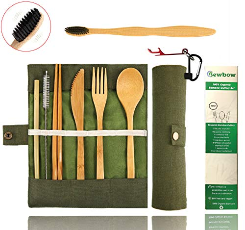 Bamboo Utensils Cutlery Set BEWBOW product image
