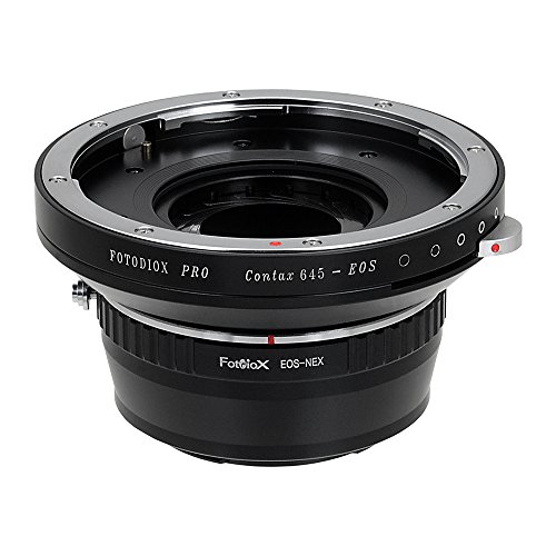 Fotodiox Pro Lens Mount Adapters, Contax 645 (C645) Mount Lenses to to Sony E-Mount Mirrorless Camera Adapter - for Sony Alpha E-mount Camera Bodies (APS-C & Full Frame such as NEX-5, NEX-7, a7, a7II)