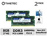 dell 8 gb memory module - Timetec Hynix IC Apple 8GB Kit (2x4GB) DDR3L 1600MHz PC3L-12800 SODIMM Memory Upgrade For MacBook Pro 13-inch/15-inch Mid 2012, iMac 21.5-inch Late 2012/Early 2013,27-inch Late 2012/ 2013,Retina 5K display Late 2014/Mid 2015,Mac mini Late 2012/ Server (8GB Kit (2x4GB))
