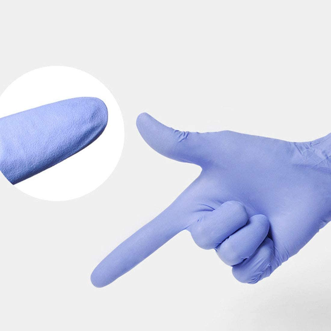Cleaning Bverionant 100PCS Nitrile Disposable Exam Gloves Powder-Free Gloves for Hospitals Sky Blue, Medium