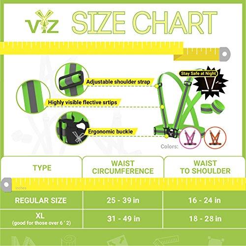247 Viz Reflective Vest with Hi Vis Bands, Fully Adjustable & Multi-Purpose: Running, Cycling Gear, Motorcycle Safety, Dog Walking & More - High Visibility Neon Orange by 247 Viz (Image #6)