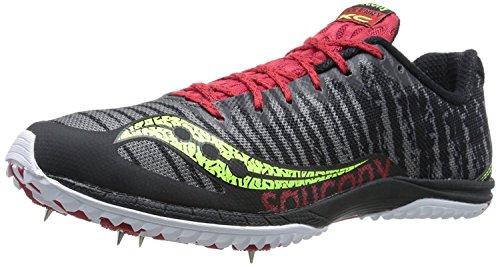 Saucony Mens Kilkenny XC5 Cross-Country Shoe, Black/Citron/Red, 49 D(M) EU/13 D(M) UK