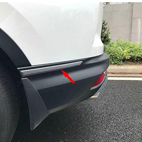 Beautost For Honda 2017 2018 2019 CR-V CRV Rear Bumper Back Corner Protection Cover Trim Stainless Steel