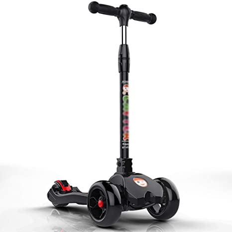 Patinetes clásicos Scooter Plegable para niños pequeños con asa Ajustable, Rueda Ancha para niños de la ...