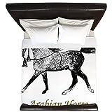 CafePress - Arabian Horse Clothes - King Duvet Cover, Printed Comforter Cover, Unique Bedding, Microfiber