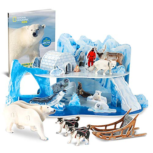 CubicFun National Geographic 3D Puzzle Arctic Tale Science Model for Kids with Booklet, Ice and Snow White World