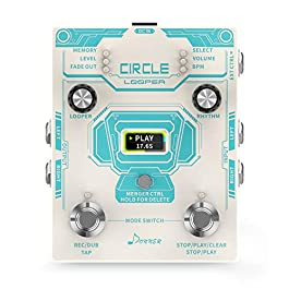 Donner New Circle Looper Guitar Effect Pedal with Time Progress Bar Display Drum Machine