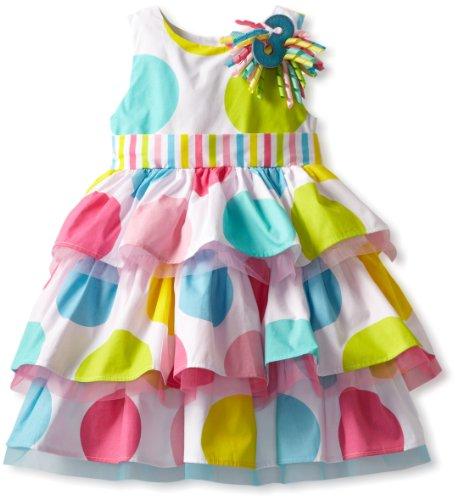 Mud Pie Little Girls' Toddler Birthday Dress,  Multi, 3T (Mud Pie Im One compare prices)