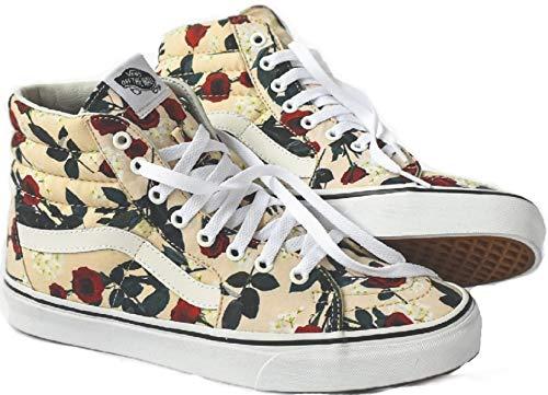 - Vans Mens U SK8 HI Roses Sand Dollar True White Size 6