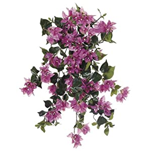 Artificial 24-inch Orchid Pink Bougainvillea Trailing Bush (Set of 6) 47
