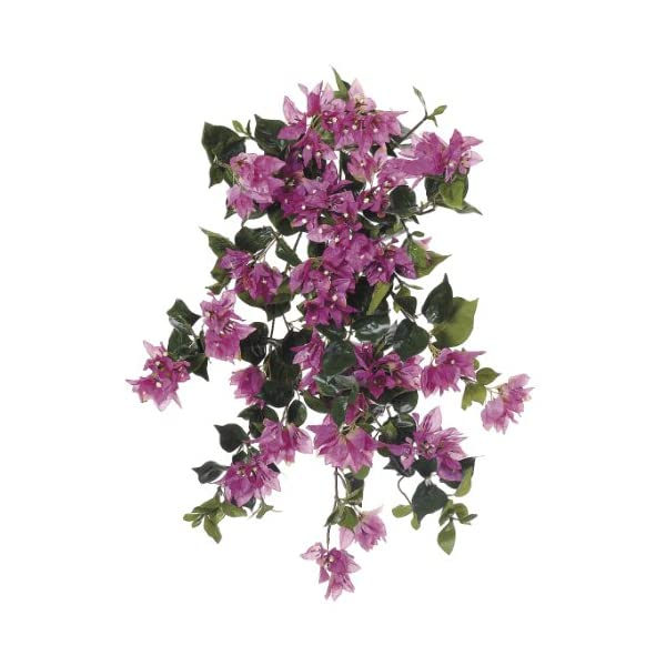 Artificial 24-inch Orchid Pink Bougainvillea Trailing Bush (Set of 6)