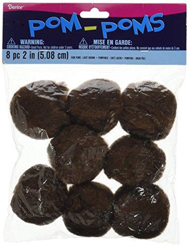 Pom Poms 2 8 Pkg Brown