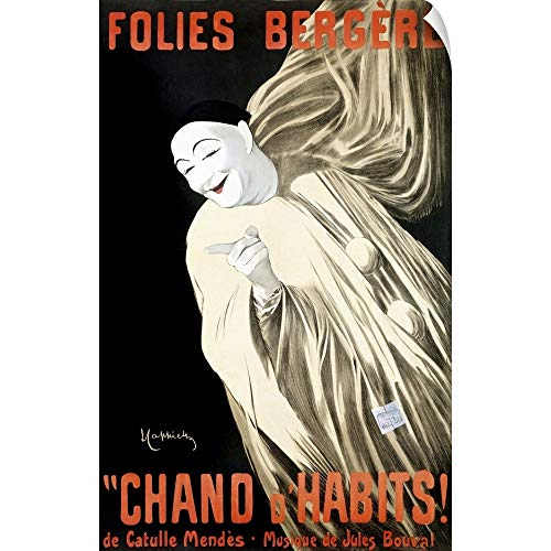 CANVAS ON DEMAND Folies Bergere, Chand dHabits,Vintage Poster Wall Peel Art Print, 15