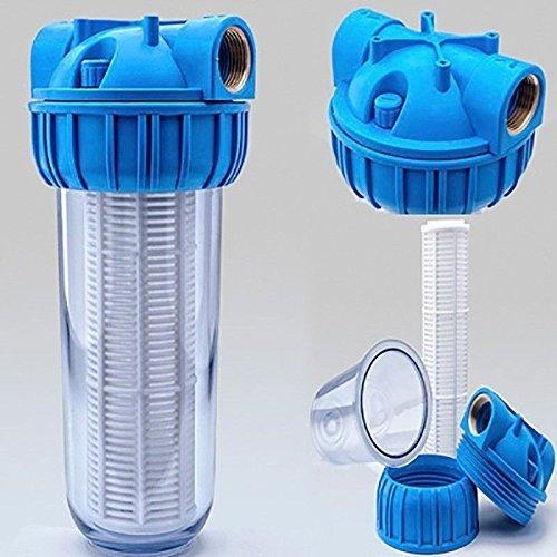 PRIESER Pumpen-Vorfilter, Wasserdurchfluss bis 5.000 l/h mit Wandhalterung und Filterschlüssel