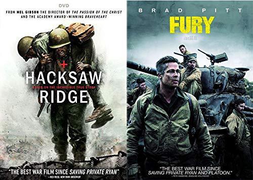 Amazon Com Second World War Modern Cinema Hacksaw Ridge Fury Dvd Combo Mel Gibson Brad Pitt Andrew Garfield Andrew Garfield Brad Pitt Mel Gibson Movies Tv