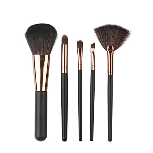 HCFKJ Pincel De Maquillaje Profesional 5pcs Cepillo De Maquillaje CosméTico Colorete Conjunto De Cepillos De Sombra De Ojos Kit: Amazon.es: Belleza