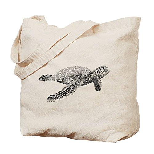 CafePress–verde mar tortuga–Gamuza de bolsa de lona bolsa, bolsa de la compra