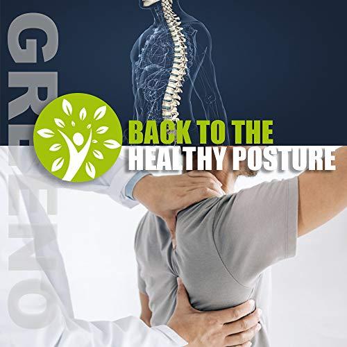 GREENO Postrue Corrector for Shoulder Support, Back Brace for Men and Women Upper Back Pain Relief, Posture Brace for Back Support and Upper Spine Support, Back Straightener Adjustable, Universal Size