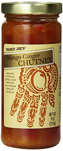 Trader Joe's Mango Ginger Gourmet Chutney Inspired By the Chutneys of India Great on Sandwiches , Hot or Cold Meats