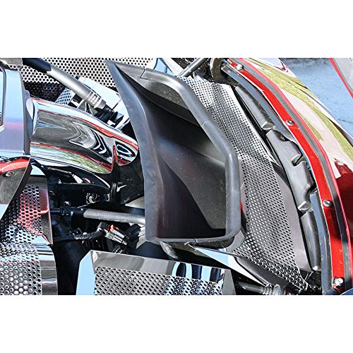 (Elite Auto Chrome Acc Vent Tube Cover fit for 14-19 Chevy Corvette Z06/C7-Stainless)