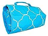 Ever Moda Quatrefoil Hanging Travel Toiletry Bag (Teal Blue)