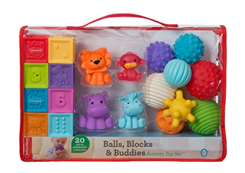 Infantino Balls, Blocks, Buddies Activity Toy Set