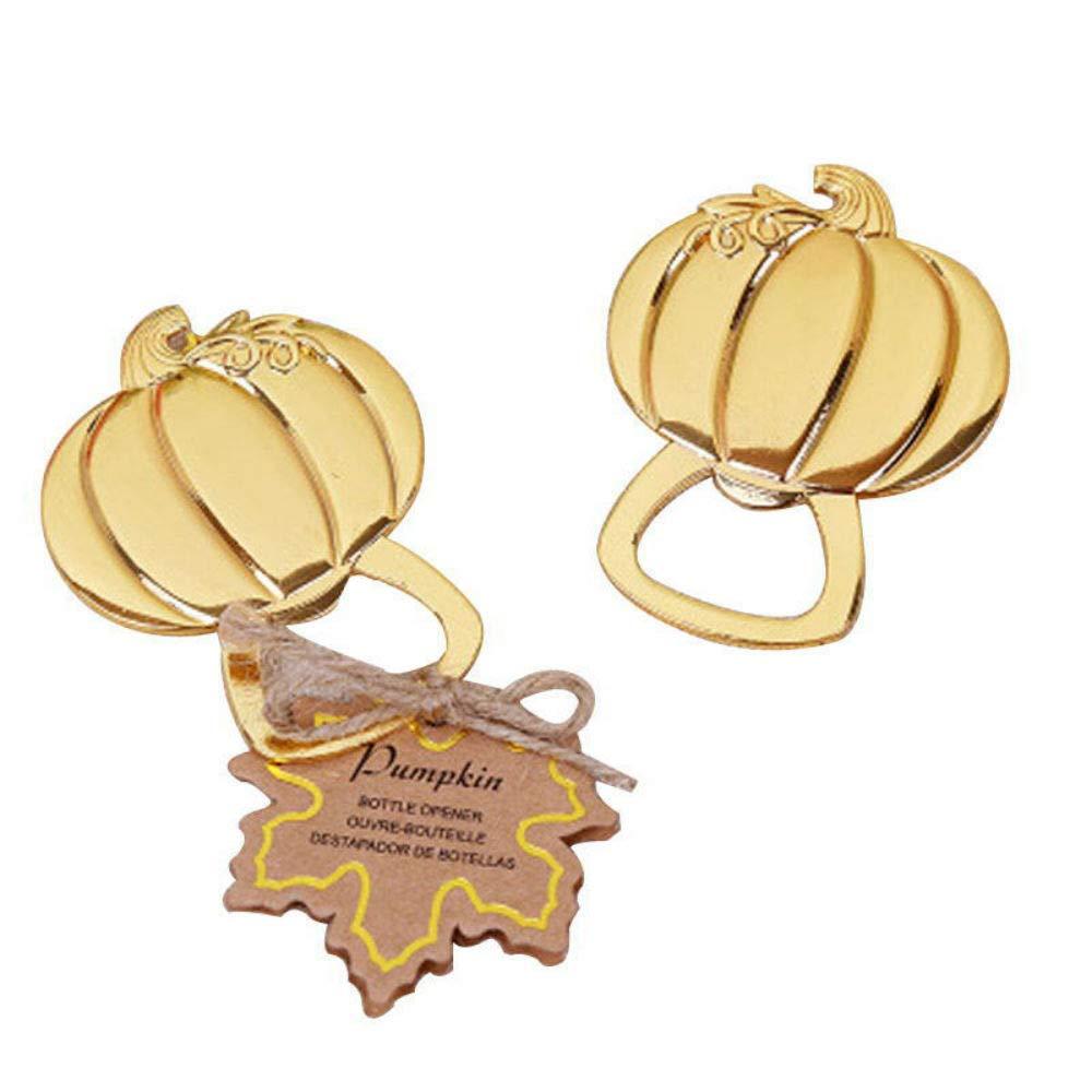 100pcs Halloween Themed Gold Pumpkin Bottle Opener For Wedding Party Favor by cute rabbit