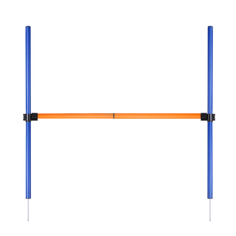 Galapara Dog Agility Equipment Set,Outdoor Pet Dog Obstacle Course Training Equipment,Dog Agility Jump Hurdle Bar Pole for Doggie Activity Agility Exercise Pole Set with Carrying Bag Case by Galapara