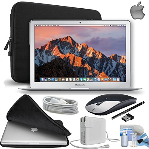 Apple-MacBook-Air-133″-128GB-SSD-Notebook-Laptop-Mid-2017---Newest-Version-Gift-Bundle-with-Fitted-Carrying-Case-Black-Wireless-MouseeDigitalUSA-Stylus-and-more