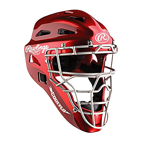Coolflo Hockey Style Catchers Helmet (Rawlings Coolflo Hockey-Style Catcher's Helmet (Scarlet))