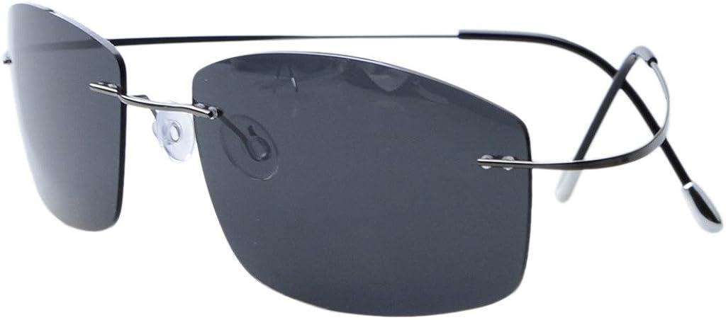 Eyekepper Lunettes de Soleil Polarisees en Titane UV 400 Protection Haut de Gamme S1504 Bronze/Gris