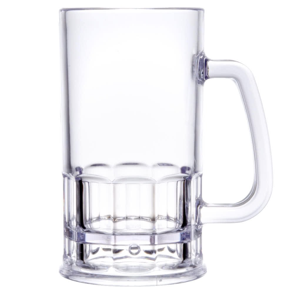 Yanco SM-10-B Stemware Beer Mug, 10 oz Capacity, 2.75'' Diameter, 7.5'' Height, Plastic, Clear Color, Pack of 24