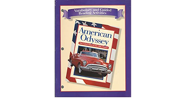 american odyssey vocabulary and guided reading activity answer key