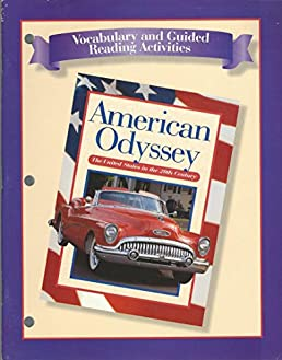 vocabulary guided reading activities american odyssey 1998 05 rh amazon com american odyssey chapter 12 vocabulary and guided reading activity answers American Odyssey TV Show